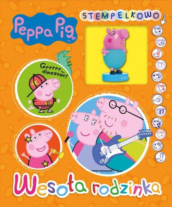 Świnka Peppa Stempelkowo 2 Wesoła rodzinka (pieczątka tata Świnka)