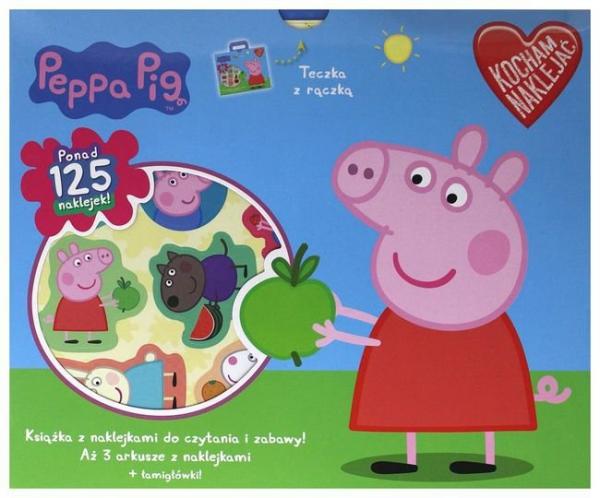 Świnka Peppa Kocham naklejać