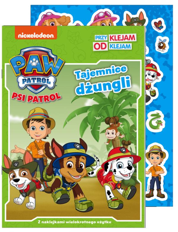 Psi Patrol Przyklejam odklejam 2 Tajemnice dżungli