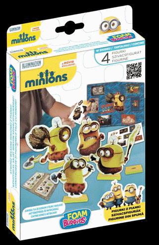 Minionki Foam Buddies Piankolinki zestaw 4 figurek z naklejkami