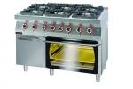 Kuchnia gazowa z piekarnikiem elektrycznym  1200x700x900 mm KROMET 700.KG-6/PE-2/SD 700.KG-6/PE-2/SD