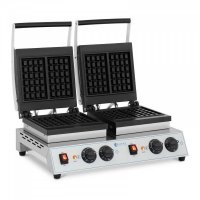 Gofrownica - podwójna - Royal Catering - gofry belgijskie - 2 x 1500 W ROYAL CATERING 10012035 RC-WMDS01