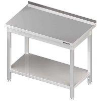Stół przyścienny z półką 1200x600x850 mm spawany STALGAST 612326 612326