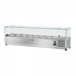 Nadstawa chłodnicza - 7 x GN 1/3 - 160 x 39 cm - szklana osłona ROYAL CATERING 10010944 RCKV-160/39-G7
