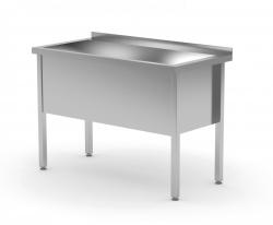 Stół z basenem jednokomorowym - wysokość komory h = 400 mm 1200 x 600 x 850/400 mm POLGAST 205126/4 205126/4