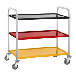 Wózek kelnerski - 3 półki - 150 kg - kolorowy ROYAL CATERING 10011011 RCSW 3C