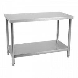 Stół roboczy ze stali nierdzewnej - 100 x 60 cm ROYAL CATERING 10011095 RCAT-100/60-NW
