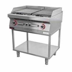 Lawa grill 800 mm 14kW na podstawie szkieletowej  KROMET 700.OGL-800.T LINIA 700