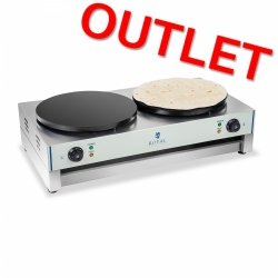 OUTLET | Naleśnikarka - 40 cm - 2 x 3000 W - 2.0 ROYAL CATERING 10010253 RCEC-6000-E