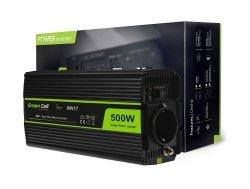 Przetwornica Green Cell® 24V na 230V Czysta sinusoida 500W GREEN CELL INV17