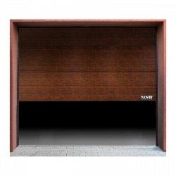 Brama garażowa - segmentowa - 2500 x 2125 mm - czarny orzech MSW 10060210 GD2500 black walnut