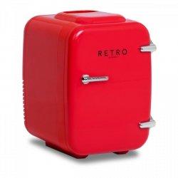 Mini lodówka - samochodowa - 4 l - czerwona - termostat BREDECO 10080082 BCMF-4L-S