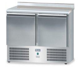 Stół mroźniczy z drzwiami o pojemności 2x65l 950x600x850 DM-95044.0.0 600 DORA METAL DM-95044.0.0 DM-95044.0.0 600