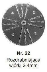 Rozdrabniająca na wiórki 2,4mm MESKO-AGD Nr.22 Nr.22