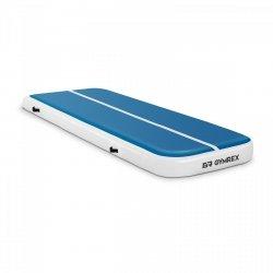 Nadmuchiwana mata gimnastyczna - 300 x 100 x 20 cm - niebiesko-biała GYMREX 10230108 GR-ATM4