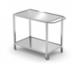 Wózek kelnerski dwupółkowy 1000 x 600 x 850 mm