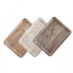 Taca do serwowania z nadrukiem drewna - ciemny dąb HENDI 508954 508954
