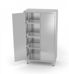Szafa magazynowa z drzwiami na zawiasach 700 x 500 x 1800 mm POLGAST 304075 304075