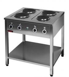 Kuchnia elektryczna na podstawie otwartej 4-płytowa  800x700x850 mm KROMET 000.KE-4M 000.KE-4M