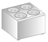 Pojemnik na sztućce do wkładów cylindrycznych o średnicy Ø97 ERIK DM-3517-E DORA METAL DM-3517-E DM-3517-E
