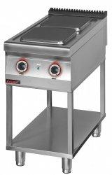 Kuchnia elektryczna 2 płytowa 450 mm 2x4,0 kW na podstawie szkieletowej  KROMET 900.KE-2.T LINIA 900