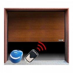 Segmentowa brama garażowa z napędem - 2500 x 2125 mm - łańcuch - złoty dąb MSW 10060201 GD2500-I Golden Oak