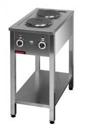 Kuchnia elektryczna na podstawie otwartej 2-płytowa  400x700x850 mm KROMET MAR.000.KE-2M* MAR.000.KE-2M*
