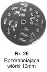 Rozdrabniająca na wiórki 10mm MESKO-AGD Nr.26 Nr.26