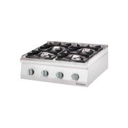 Kuchnia nastawna gazowa 4 palnikowa 800x700 22,5kW - G30 STALGAST 9706230 9706230