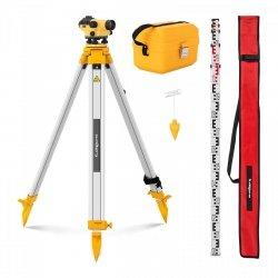 Niwelator optyczny + statyw - powiększenie 28 x - śr. 36 mm STEINBERG 10030467 SBS-LIS-28/36