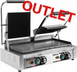 OUTLET | Podwójny grill kontaktowy 1/2 płaski 58 YATO YG-04563 YG-04563
