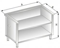 Stanowisko szafkowe pod urządzenia zewnętrzne 1550x800x900 ERIK DM-94515-E