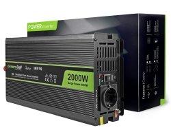 Samochodowa Przetwornica Napięcia Green Cell ® 12V do 220V, 2000W/4000W GREEN CELL INV10