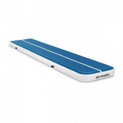 Nadmuchiwana mata gimnastyczna - 500 x 100 x 20 cm - niebiesko-biała GYMREX 10230110 GR-ATM6