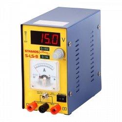 Zasilacz laboratoryjny - 0-15 V - 0-1 A DC STAMOS 10021002 S-LS-9