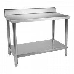 Stół roboczy ze stali nierdzewnej - rant - 100 x 70 cm ROYAL CATERING 10011091 RCAT-100/70-N