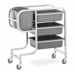 Wózek kelnerski - 3 półki - 2 pojemniki - 100 kg Royal Catering RCSW-3.2G 10011537