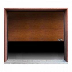 Brama garażowa - segmentowa - 2375 x 2125 mm - złoty dąb MSW 10060212 GD2375 golden oak