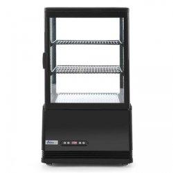 Witryna chłodnicza nastawna, 58 litrów - czarna