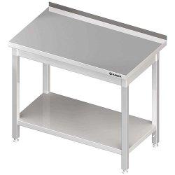 Stół przyścienny z półką 600x600x850 mm skręcany STALGAST 611266 611266