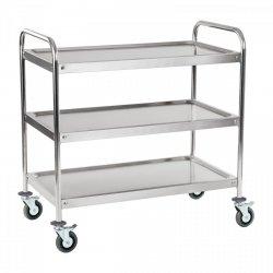 Wózek kelnerski - 3 półki - do 480 kg - okrągły uchwyt ROYAL CATERING 10010230 RCSW-3R