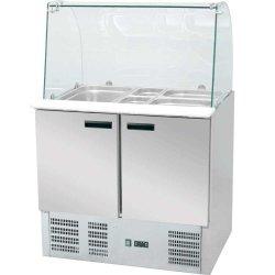 Stół chłodniczy sałatkowy z nadstawą szklaną 240 l +2/+8°C 900x700x1300 STALGAST 842222 842222