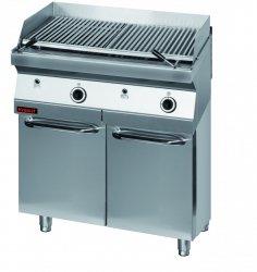 Lawa grill 800 mm 14kW na podstawie szafkowej zamkniętej  KROMET 700.OGL-800.S.D LINIA 700
