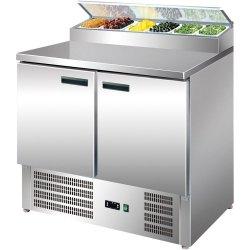Stół chłodniczy 2 drzwiowy z nadstawą sałatkową STALGAST 842328 842328