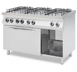 Kuchnia gazowa 6 palnikowa z piekarnikiem elektrycznym GN1/1 REVOLUTION 226452 226452