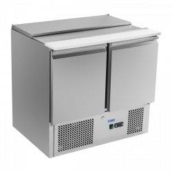 Stół chłodniczy sałatkowy - 90 x 70 cm - płyta do krojenia ROYAL CATERING 10010452 RCKT-90/70-S