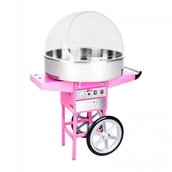 Maszyna do waty cukrowej - 72 cm - wózek - pokrywa ROYAL CATERING 10010133 RCZC-1200XL