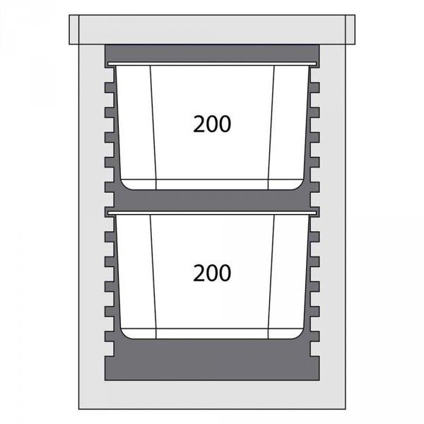 Pojemnik termoizolacyjny 12x GN 1/1 20 mm