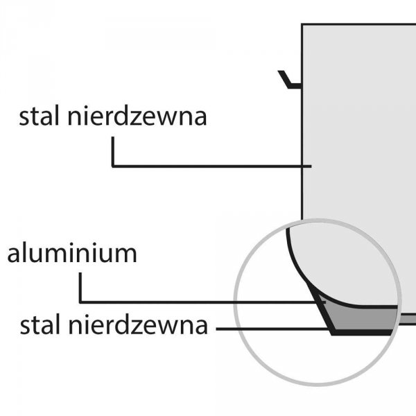 Garnek niski d 360 mm 18,3 l z pokrywką