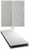 Deska tarasowa GAMRAT - kompozytowa ryflowana 25x160x2400mm jasny szary Wersja P